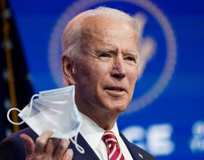 總統當選人拜登表示,戴口罩是「愛國行為」。(路透)