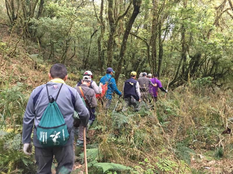 圖為巡山員執行四次林班清查,抑制山老鼠盜伐林木。記者卜敏正/翻攝