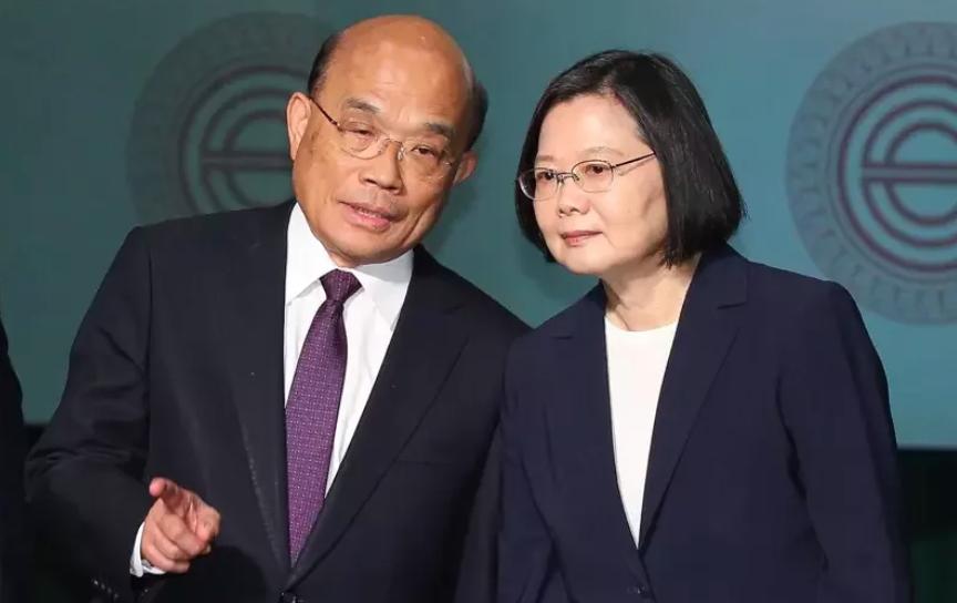 蔡英文總統(右),行政院長蘇貞昌(左)。圖/本報系資料照