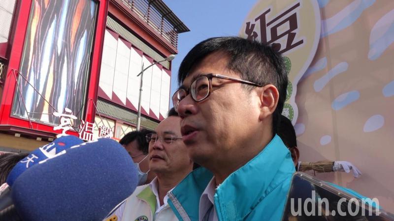 高雄市長陳其邁盼大家能夠理性討論豬農的權利與萊豬進口的問題。記者楊濡嘉/攝影