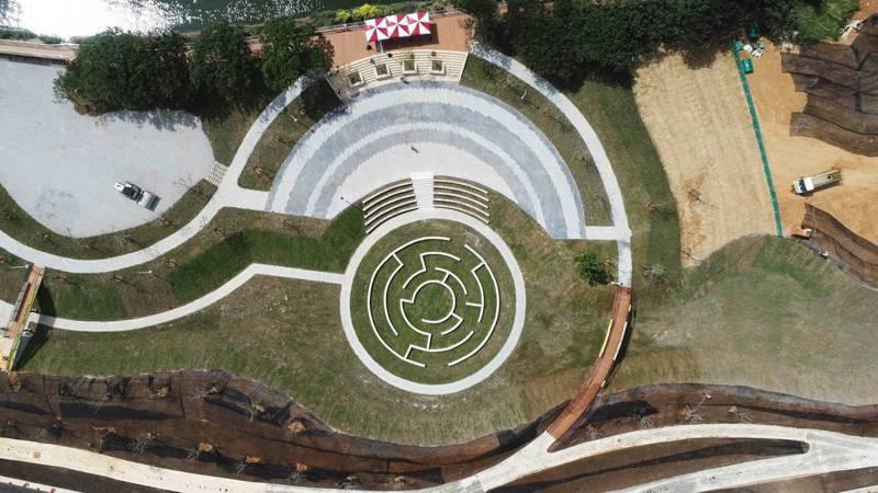 桃園市觀音區草漯第一、三、六區整體開發單元市地重劃統包工程拿下公共工程金質獎土木工程類佳作。圖/桃園市工務局提供