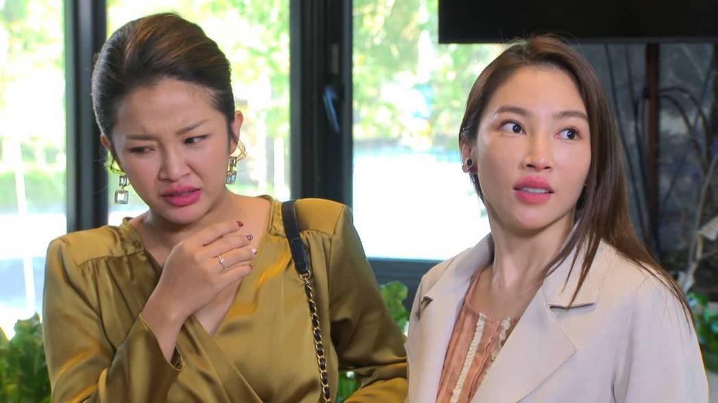 賴慧如(左)被張家瑋強吻後,一臉嫌惡。圖/民視提供