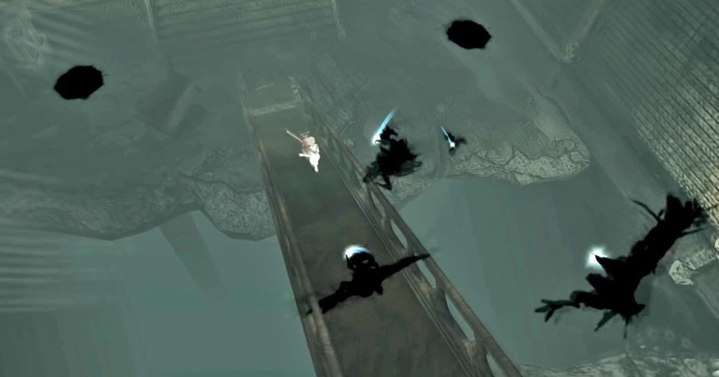 遊戲中出現最多的敵人就是黑影,很常在玩家解開機關要逃跑時開始出現,且會成群結隊。
