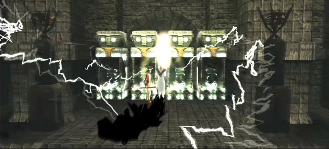 遊戲中有許多這種類似古文明圖騰石像的地方,初期必須借助女主角的力量才能打開,因此...