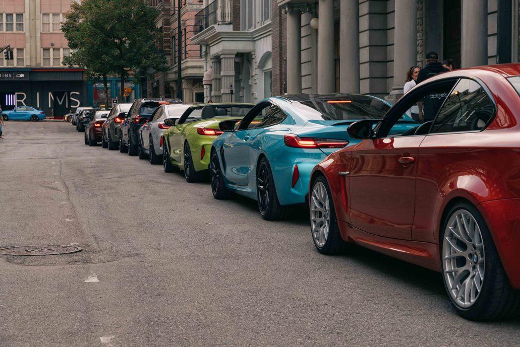 這些街道上的車款全都是BMW車友的愛車。 圖/BMW提供