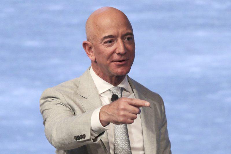 亚马逊(Amazon)创办人兼执行长贝佐斯(Jeff Bezos)。  美联社(photo:UDN)