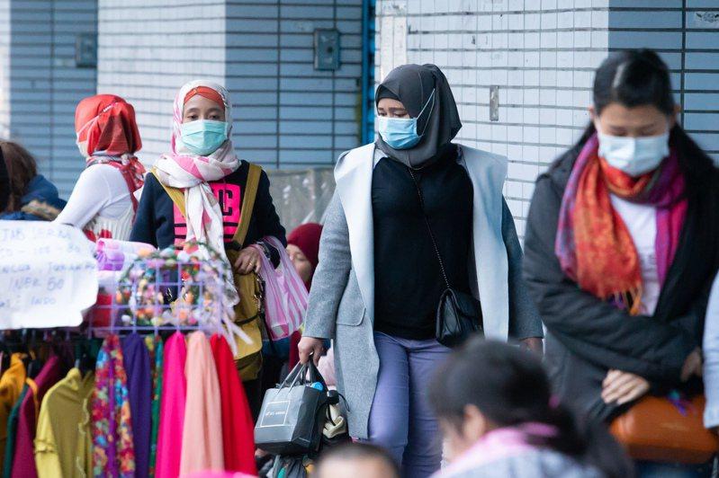 今天新增22例新冠肺炎境外移入病例,印尼移工人數最多。記者季相儒/攝影