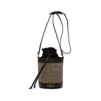 Gianni Chiarini Leni金蔥花呢圓筒包,9,800元。圖/Gia...