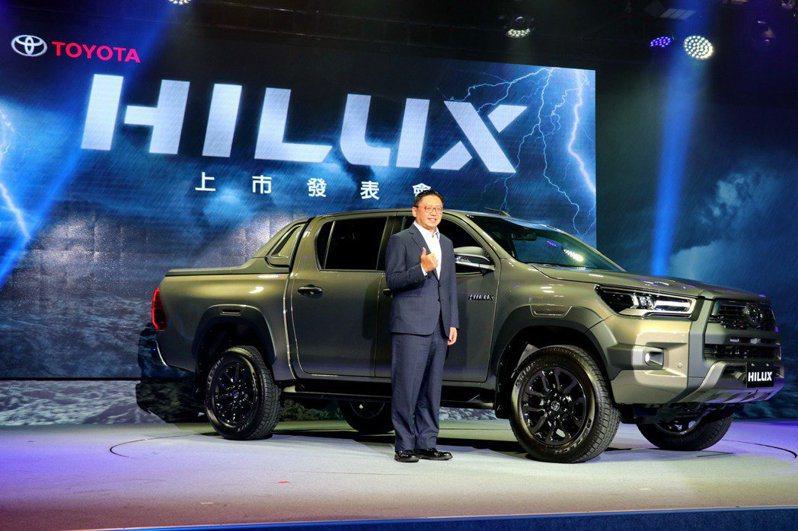 TOYOTA HILUX發表二度小改款車型,售價145萬元。 記者陳威任/攝影