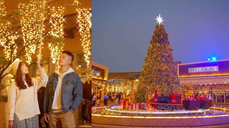華泰名品城打造「飄雪耶誕村」全區廣場共設置五處大型耶誕造景。圖/華泰名品城提供