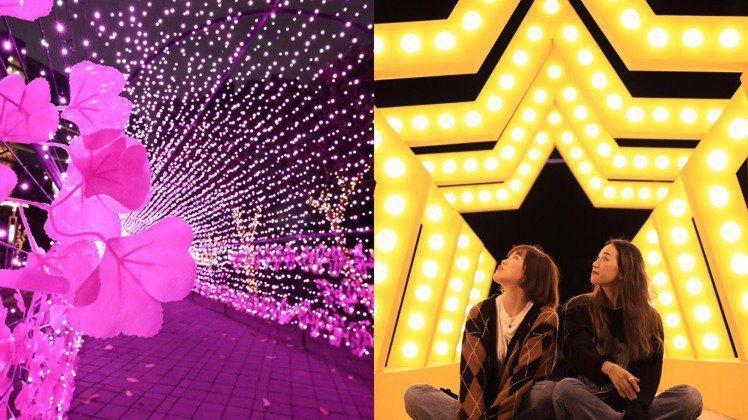 宏匯廣場今年耶誕跨年在中港大排沿線路樹、願景公園與凹灣碼頭三個地點,拉出一條繽紛...