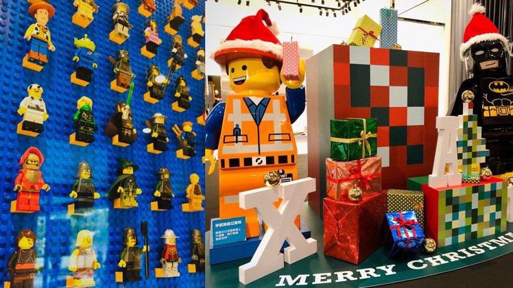 誠品信義店、松菸店以樂高作為耶誕主題裝置。圖/誠品提供