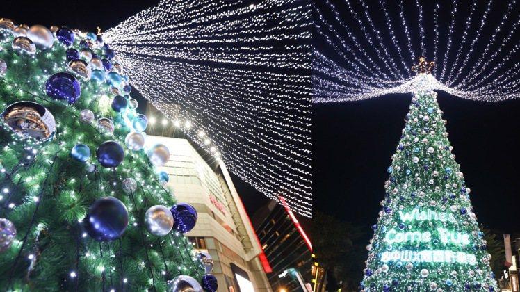 新光三越台北南西店在捷運中山站的耶誕造景。記者吳致碩/攝影