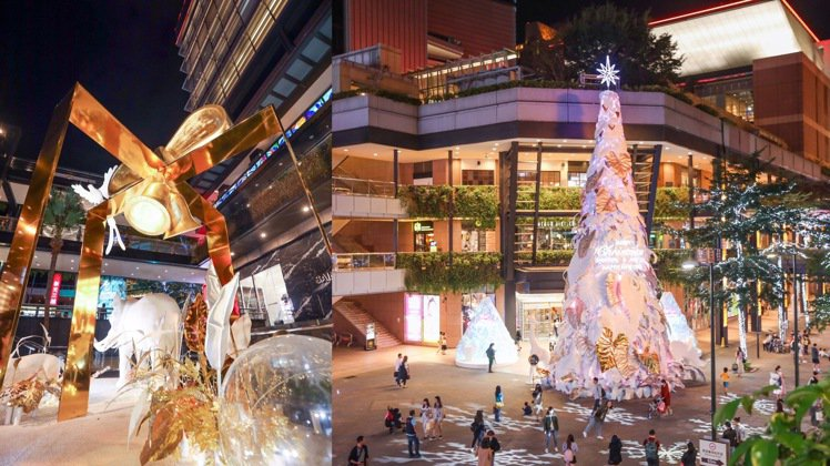 新光三越台北信義新天地「耶誕奇幻森林」。記者吳致碩/攝影