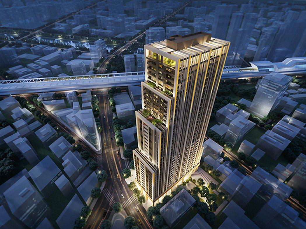 「太陽帝國」是線上少數的千坪基地、超高樓層鋼構捷運宅案。(圖/業者提供)