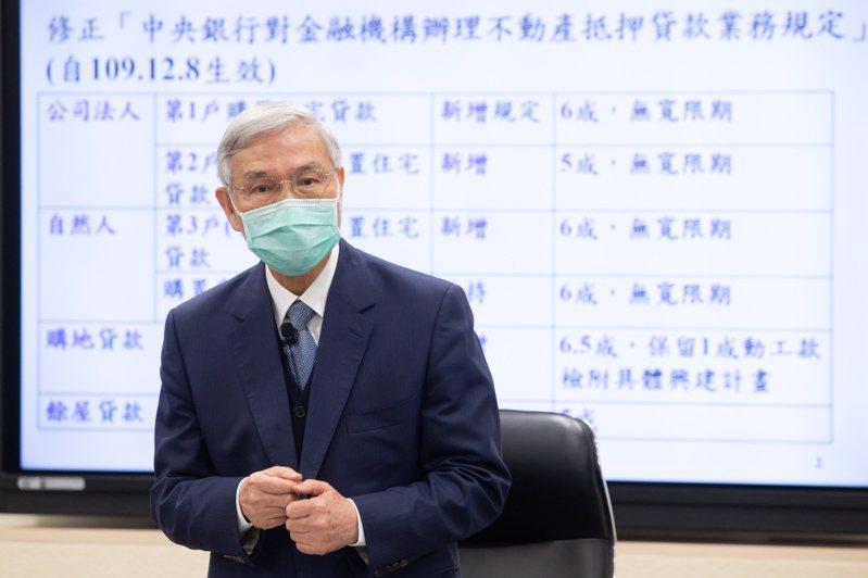 中央銀行總裁楊金龍今天下午臨時舉行記者會,宣布啟動選擇性信用貸款,針對上一次發布的選擇性信用貸款修正。記者季相儒/攝影
