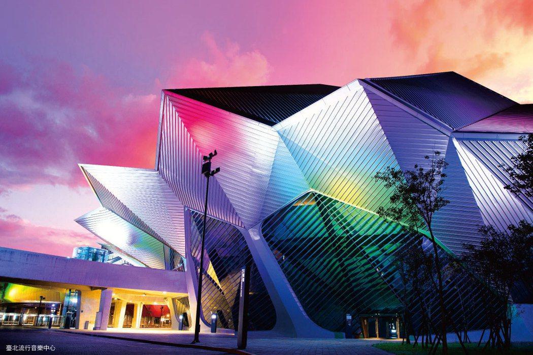 「擎天森林」鄰近甫開幕的台北流行音樂中心。 圖/海悅國際開發股份有限公司提供