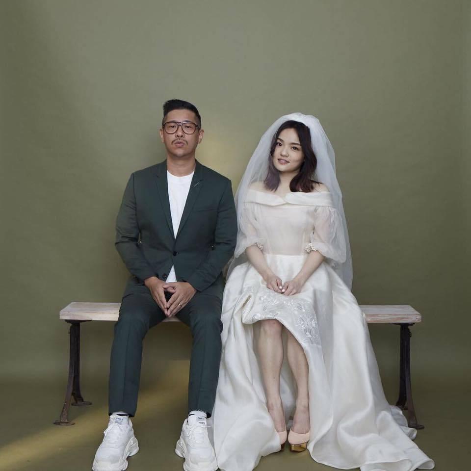 徐佳瑩(右)與老公比爾賈結婚2年喜迎寶貝兒子。圖/摘自臉書