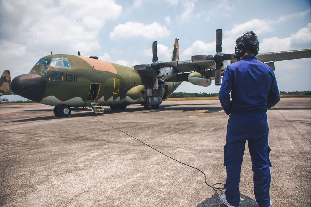 我空軍C-130H運輸機。 圖/青年日報