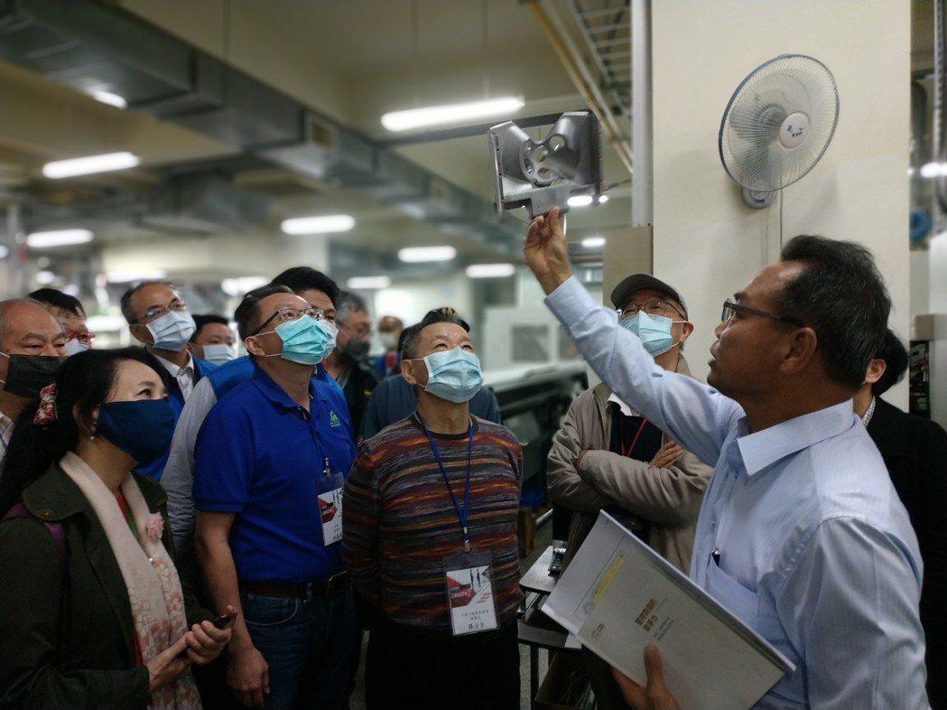 中華三創菁英協會暨三創企業代表參訪暘升企業。中華三創菁英協會/提供