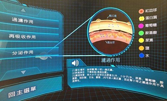 108年VR計畫教材。 中山醫學大學/提供