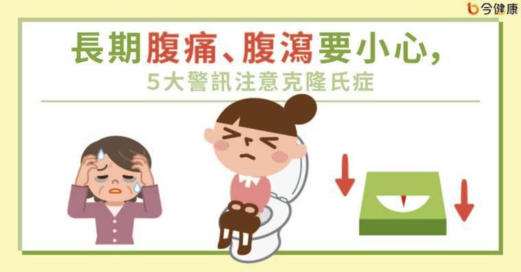 長期腹痛、腹瀉要小心,5大警訊注意克隆氏症
