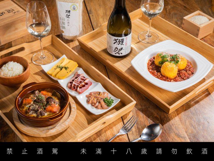 獺祭米飯定食系列。圖/心白Shinpaku bistro & bar。提醒您:禁...