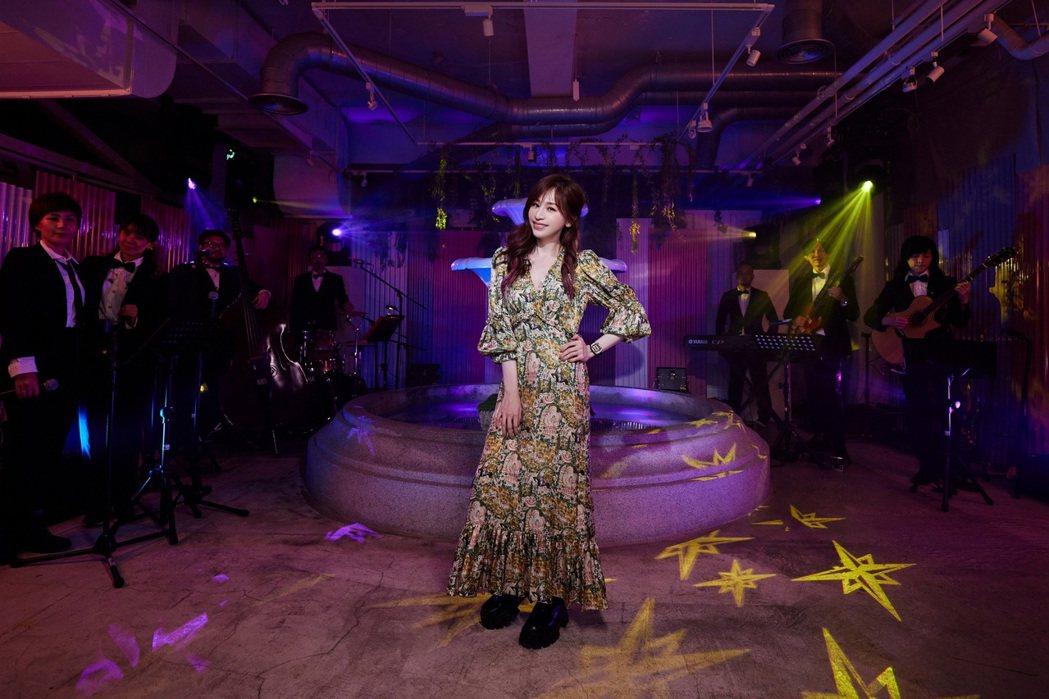 王心凌昨晚線上開唱,吸引近500萬粉絲線上觀看。圖/環球唱片提供