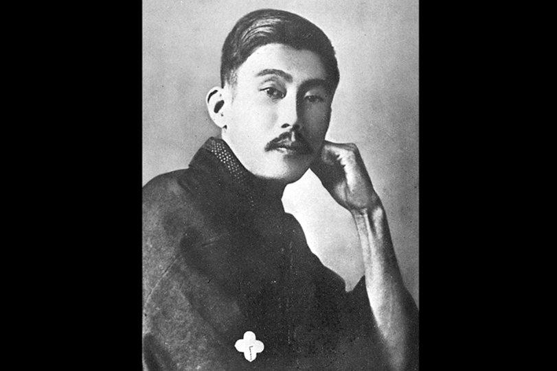 1897年開始連載的愛情通俗小說《金色夜叉》,被視為日本最偉大的大眾小說之一。圖為作者尾崎紅葉。 圖/維基共享