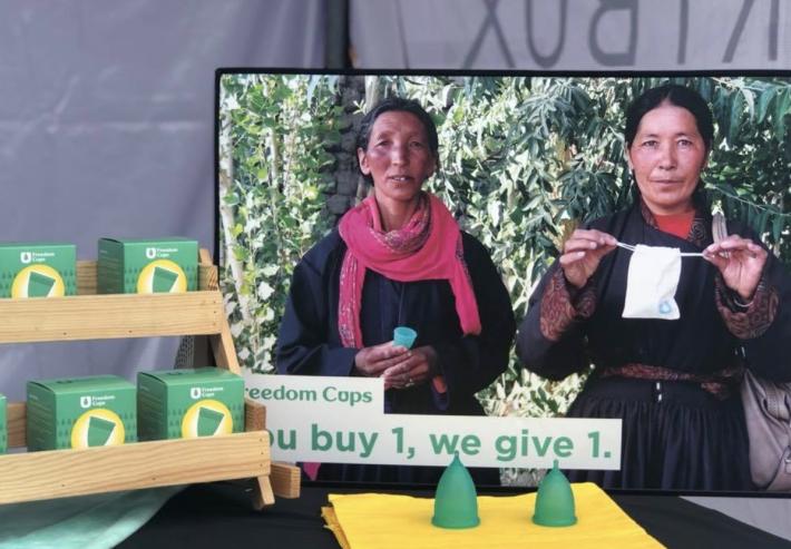 凡是購買一個月經杯,Freedom Cups 就會贈送一個給無力負擔衛生用品的女...