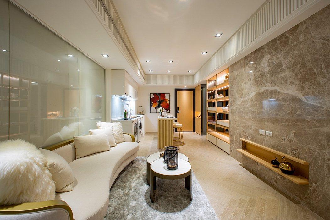 沐石樣品屋,吸晴高坪效的2+1房,換屋族群首選。 圖/未來樹提供