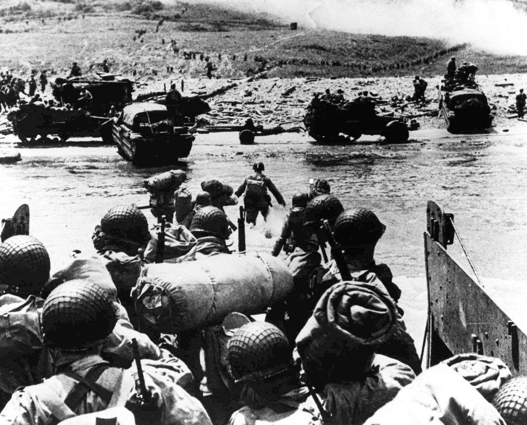 1944年6月6日,諾曼第登陸。 圖/美聯社