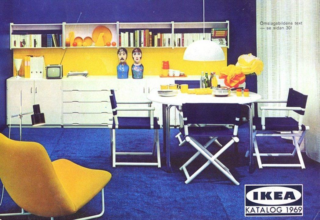 圖為60年代末到70年代,封面首次出現電視機。 圖/IKEA