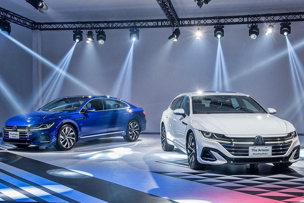 福斯Arteon Elegance車型採用高雅流線的Elegance專屬外觀套件...