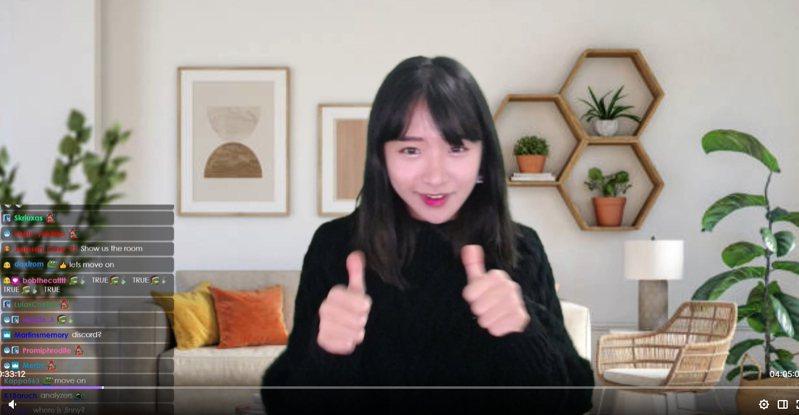 南韓知名《Twitch》正妹實況主「企鵝妹」曾在台灣爆紅,還赴台大學習中文,不過她近期轉戰歐美,作風越來越大膽。圖/取自企鵝妹《Twitch》