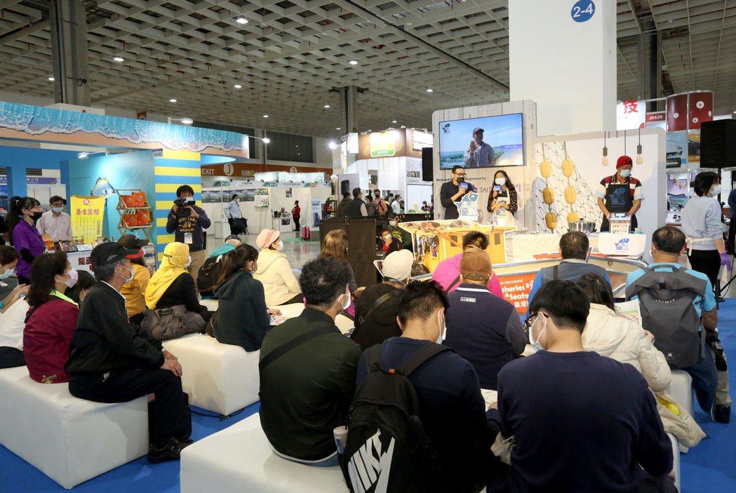2020年台灣國際漁業展的漁人舞台國際日創新發表演說,場場滿座。 貿協/提供