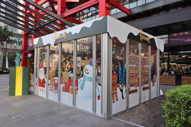年終活動多,許多信義區的快閃店玻璃屋,由巨蛋展覽團隊場佈完成。 巨蛋展覽/提供