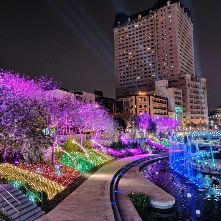 圖-2020柳川綠川聖誕裝飾/漾台中