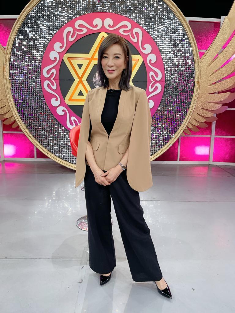 楊繡惠昨天錄「命運好好玩」。圖/JET提供