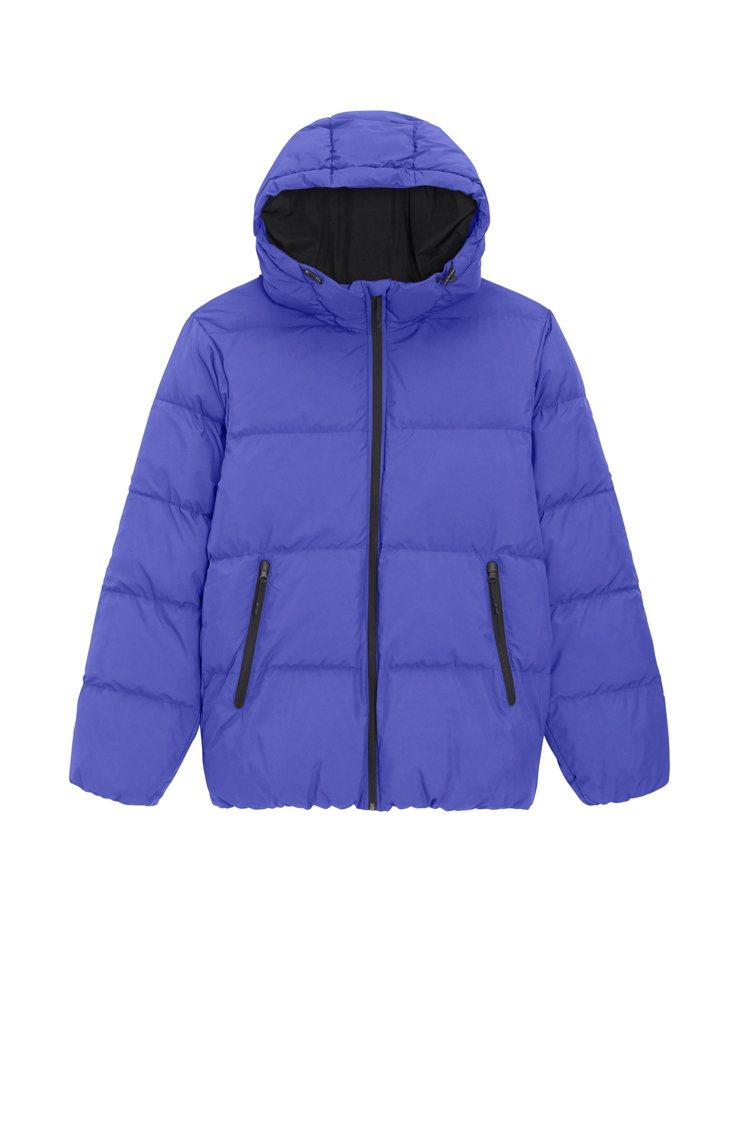 GU男裝防潑水輕暖HEAT PADDED夾層外套期間限定價1,212元。圖/GU...