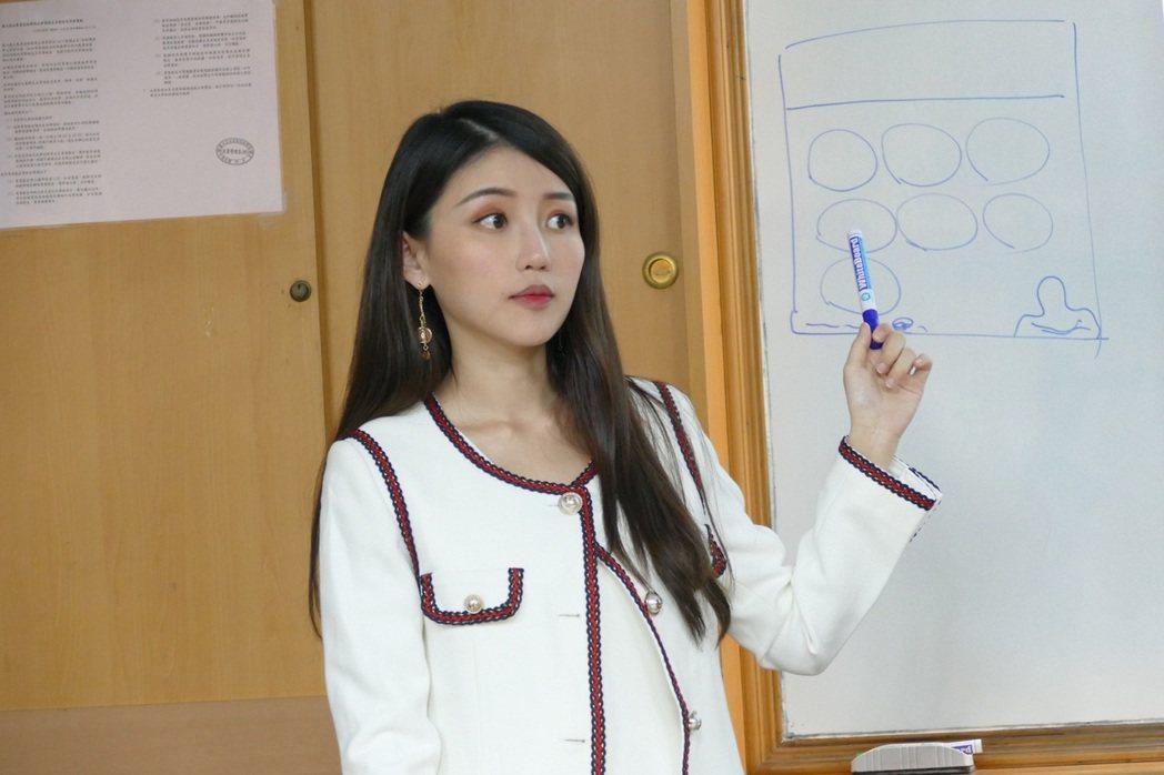 「最美營養師」高敏敏受聘上課。圖/艾迪昇傳播提供