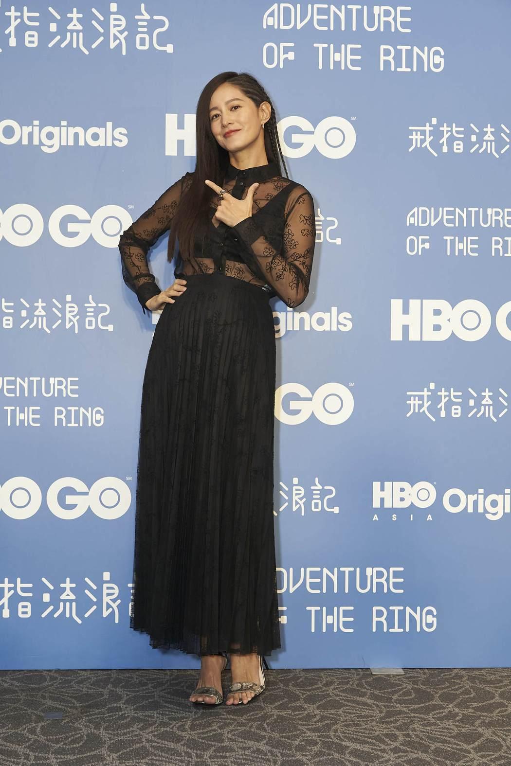 Janet謝怡芬在「戒指流浪記」中飾演愛情專家,笑談懷第二胎近況。圖/HBO A