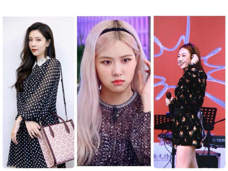 宋妍霏、BLACKPINK Rose、吳卓源穿少女感洋裝。圖/取自IG、微博