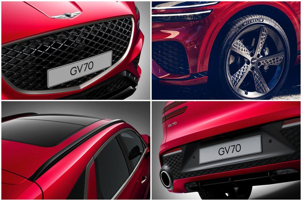 全新Genesis GV70可選擇19吋或21吋的鋁圈,車尾則搭配雙邊單出圓形尾...