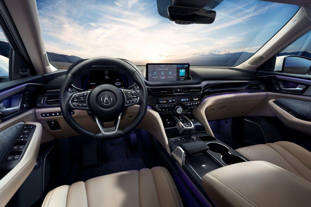 12.3吋數位虛擬儀表板加上12.3吋超寬觸控螢幕。 圖/Acura提供