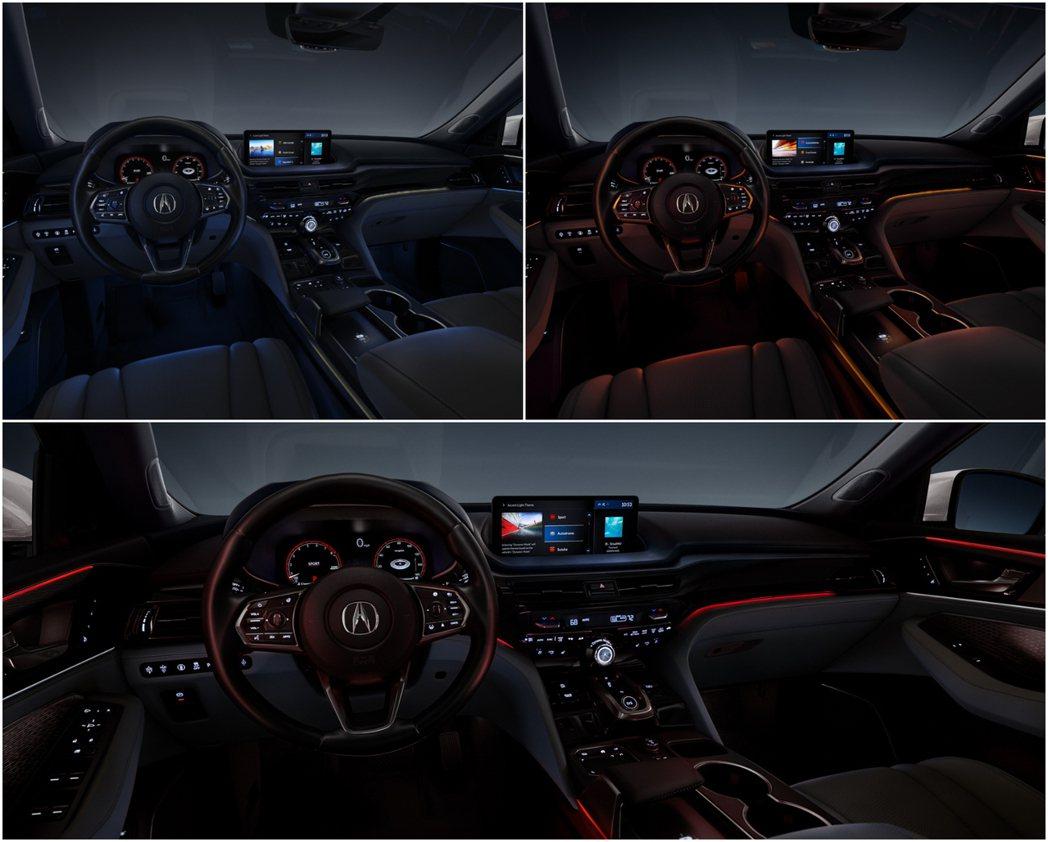 除了能根據駕駛模式切換外,共有27色的車室氣氛燈可供選擇。 圖/Acura提供