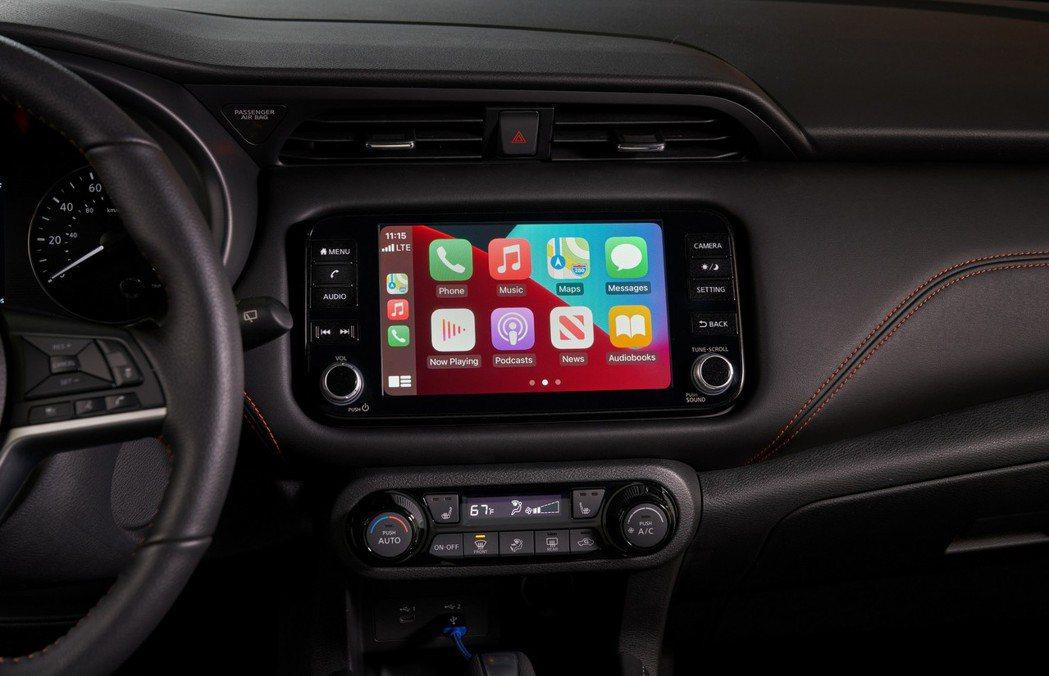 標配Android Auto和Apple CarPlay。 圖/Nissan提供