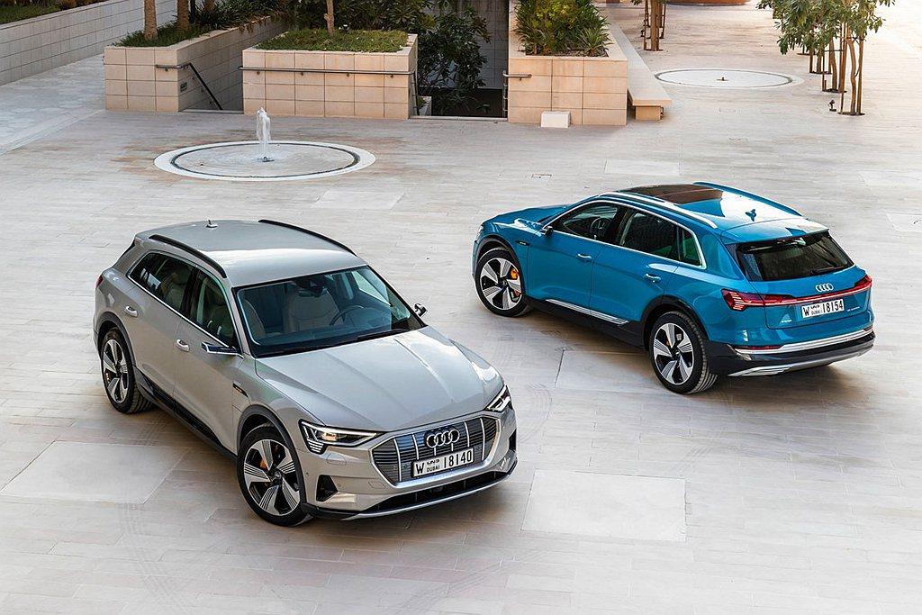 依據WLTP測試之數據,搭載71kWh電池組的Audi e-tron Sport...