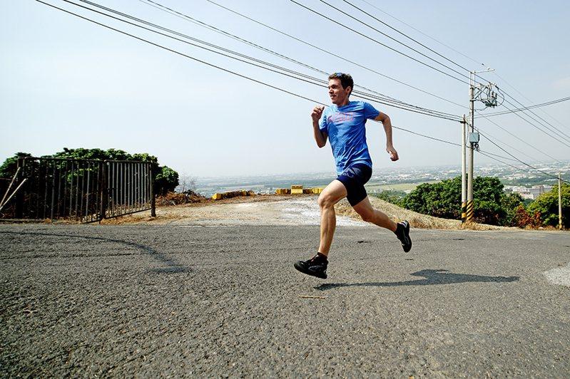 吉雷米對自我要求高,平時練跑的時間也是享受獨處的時光。(攝影/曾信耀)