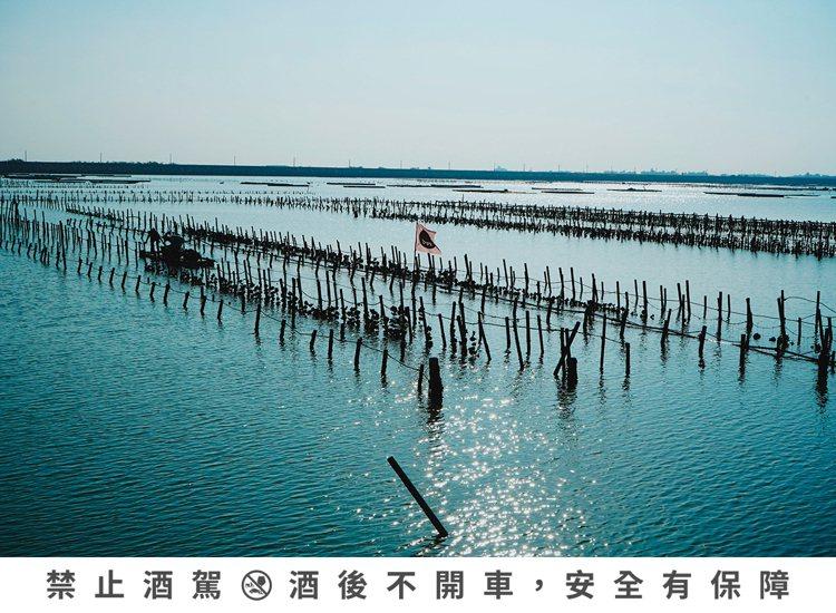 嘉義東石鄉白水湖的蚵田不僅為攝影師所熱愛,白水湖壽島更被有「台版摩西分海」的趣稱...